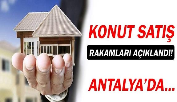 Antalya'da konut satışları...