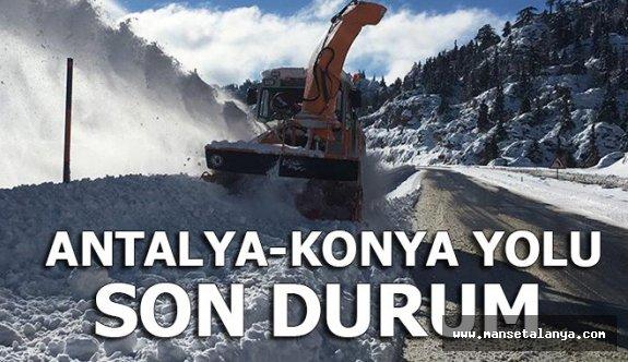Antalya- Konya karayolunda ulaşım normale döndü