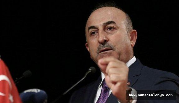 Çavuşoğlu: Tehdit olan terör örgütüne ABD destek veriyor