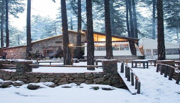 Park ormanda kar yağışı başladı