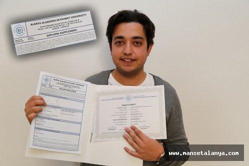 ALKÜ'nün diploması uluslararası alan da geçerli!