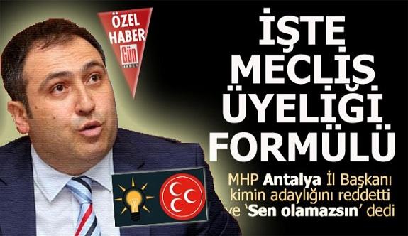 Antalya'daki sistem belli oldu