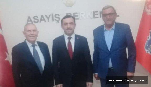 Azakoğlu, Antalya il emniyet müdürünü ziyaret etti