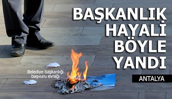 Gazipaşa'da Belediye başkanlığı hayali böyle yandı...