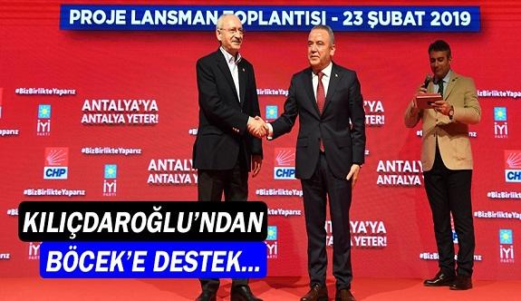 Kemal Kılıçdaroğlu'ndan Muhittin Böcek'e destek