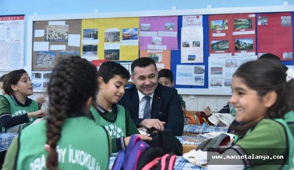 Ziraat mühendisi başkan, eko okullarına proje ziyaretinde