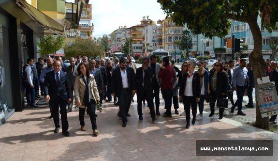 Çakır'a, Alanya çarşı esnafından büyük destek