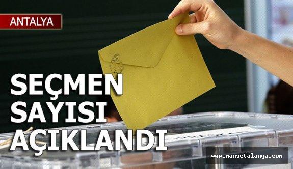 İşte Antalya, Alanya, Gazipaşa seçmen sayısı!