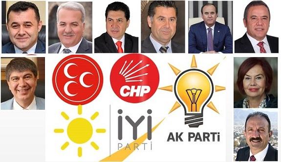 Turizm kenti Antalya ve ilçelerinde hangi adaylar yarışıyor?