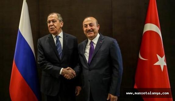 Türk ve Rusya, Dışişleri bakanları Antalya'da buluştu!