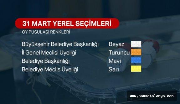 Türkiye yarın sandığa gidiyor (Oy pusulası renkleri)