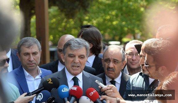 """""""Abdullah Gül, 'Vaktiyle bize yapılan yanlışları, bizim güçlü olunca başkalarına yapmamamız gerekir' dedi"""""""