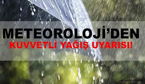 Antalya ve ilçeleri için kuvvetli yağış bekleniyor