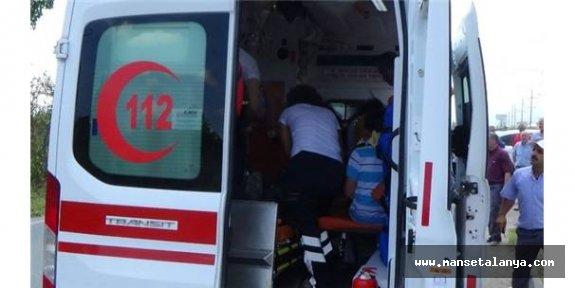 Boş havuza düştü, yaralandı!