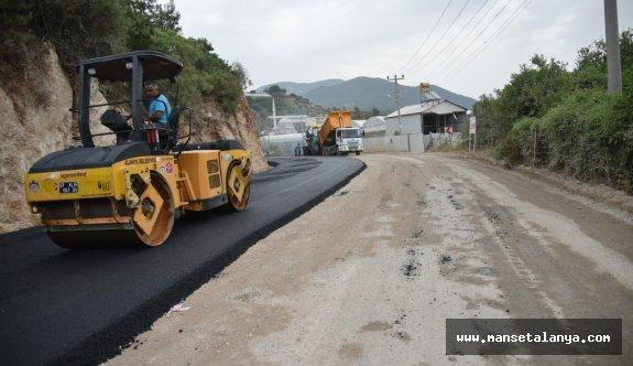 Dimçayı yolu asfaltlanıyor