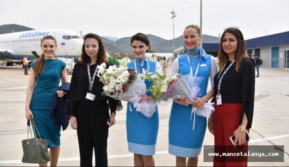 Gazipaşa-Alanya havalimanında charter uçuş arttı...