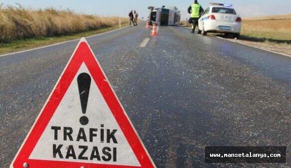 Rus turist trafik kazası kurbanı...