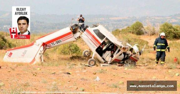 Eğitim uçağıyla ölüm uçuşu. Manavgatta meydana gelmişti!