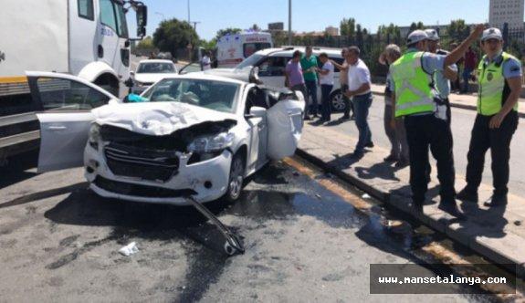 Mahmutlarda zincirleme trafik kazası