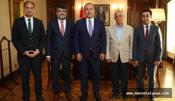 AHEP heyetinden Bakan Çavuşoğlu na ziyaret!