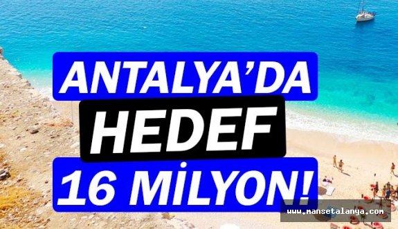Antalya'da hedef 16 milyon turist!