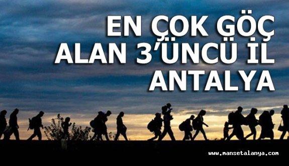 Antalya, en çok göç alan 3'üncü kent