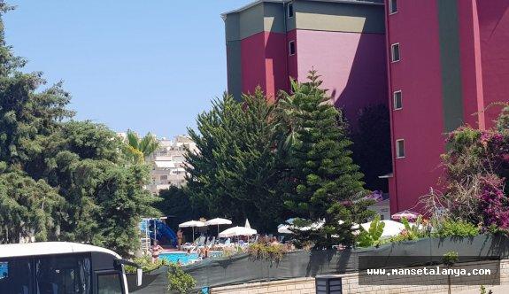 Aydınbey otelde yangın söndürüldü!