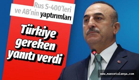 Çavuşoğlu'ndan S-400 ve yaptırımlara ilişkin çarpıcı açıklamalar!