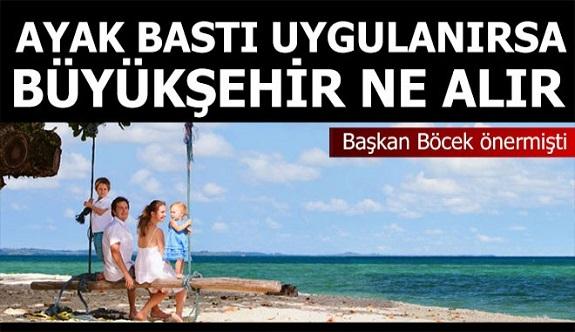 Turistten ayakbastı alınırsa Antalya Büyükşehir ne kazanır?