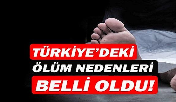 Türkiye'deki ölüm nedenli belli oldu!