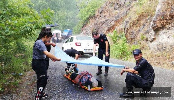 Alanya'da turist taşıyan cip şarampole yuvarlandı: 1 ölü, 11 yaralı