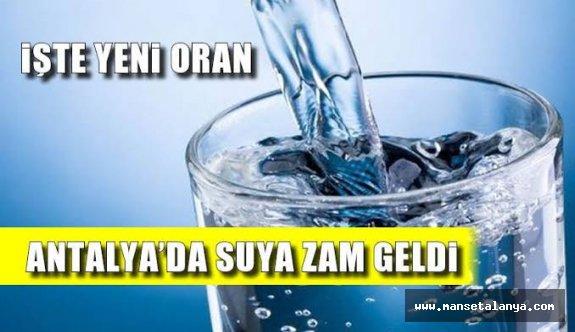 Antalya'da suya zam