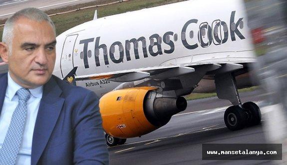 Bakan Ersoy: Thomas Cook'un iflasından dolayı zarar gören işletmelere kredi desteği yapılacak!