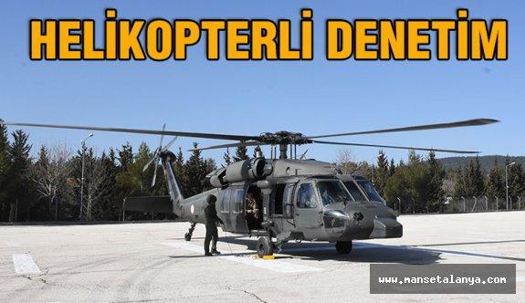D-400'de  helikopterli trafik denetiminde, 30 sürücüye ceza