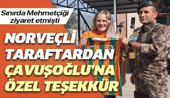 Alanyaspor'un Norveçli taraftarından Bakan Çavuşoğlu'na teşekkür!