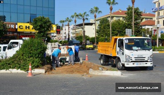 Büyükşehir'den Alanya'da Mola Kavşağı'na düzenleme