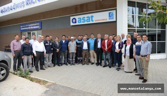 Gündoğmuş ve Manavgat'taki yatırımları incelediler