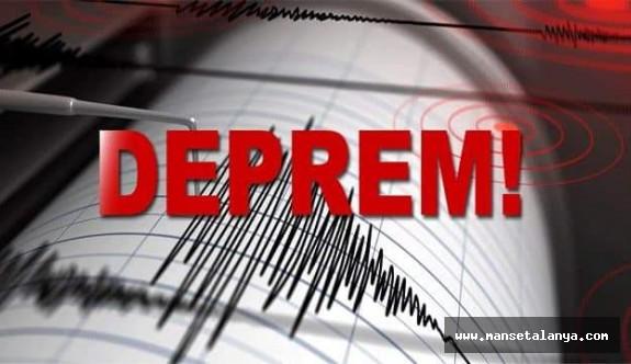 Son dakika… Akdeniz'de 4.0 büyüklüğünde deprem!