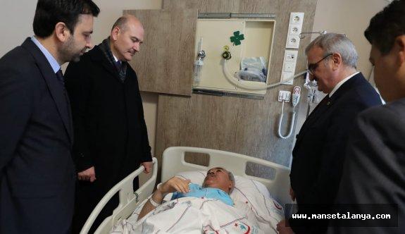 Bakan Soylu'dan İbrahim Aydın'a ziyaret