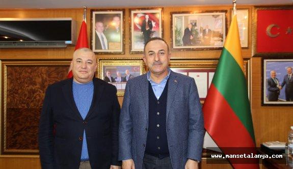 ALTSO Başkanı Şahin'e, Dışişleri bakanı Çavuşoğlu'ndan taziye ziyareti