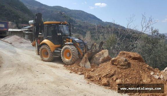 Büyükşehir'den Alanya Kırsalı'nda yoğun çalışma