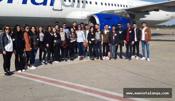 ALKÜ'den Antalya havalimanı'na teknik gezi