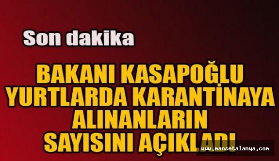 Bakan Kasapoğlu, sayıyı açıkladı!