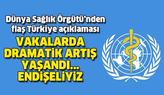 DSÖ'den Türkiye'deki vaka sayısına ilişkin açıklama: Endişeliyiz
