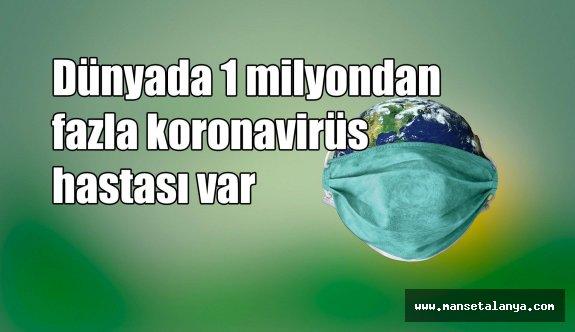 Dünyada 1 milyondan fazla koronavirüs hastası var