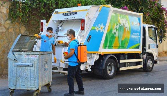 Alanya belediyesi bayramda 3528 ton atık topladı!