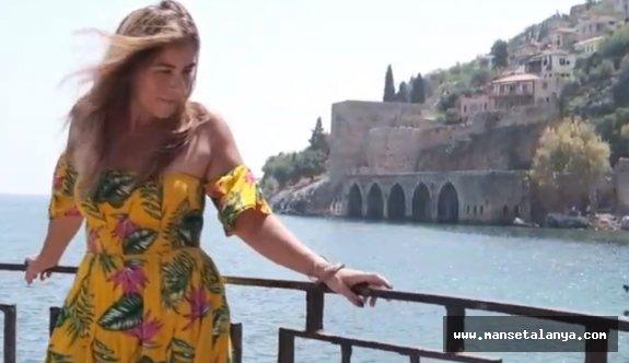 Yabancı sanatçı şarkısına Alanya'da klip çekti