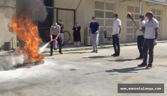 Yangın söndürme cihazları yenilendi!