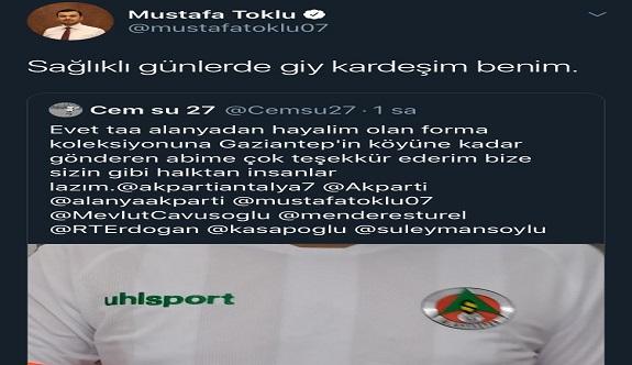 Alanyadan, Gaziantepe, Ak Partili Toklu'dan büyük jest