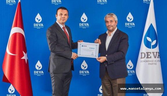 Deva Parti Antalya il başkanı atandı